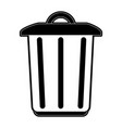 garbage trash can vector image vector image