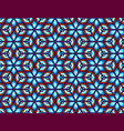 geometric seamless of snowflakes in a retro vector image vector image