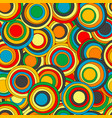 geometrical seamless pattern with colorful circles vector image vector image