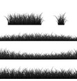 grass borders set black panorama isolated vector image vector image