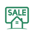 green home sale logo vector image
