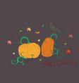halloween pumpkin drawing color vector image vector image