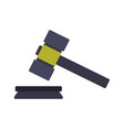 hammer judge icon vector image