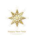 happy new year or xmas greeting card vector image vector image