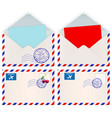 international mail envelopes vector image