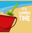 its summer time design vector image