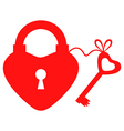 key to heart vector image vector image