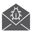 mail virus attack glyph icon message and security vector image vector image