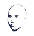 man avatar front view vector image vector image