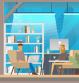 man work in openspace coworking office vector image