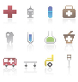 Medical and healtcare pixel icons vector image