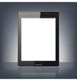 modern digital tablet pc isolated on black vector image