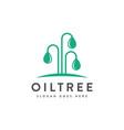 modern minimalist logo icon oil drop and tree vector image