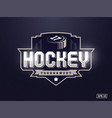 modern professional hockey logo for sport team vector image