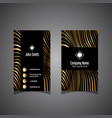 modern striped business card vector image vector image