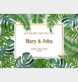 nature wedding marriage event invitation card vector image vector image