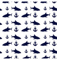 nautical seamless background vector image vector image