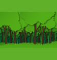 paper forest green paper cut trees silhouettes vector image vector image