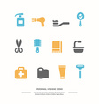 Personal hygiene icons vector image