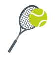 racket ball tennis equipment icon vector image vector image