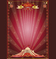 red show circus poster vector image