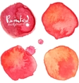 red watercolor painted stains set vector image
