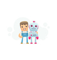 robot repair vector image vector image