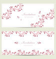 romantic floral invitation cards for your design vector image