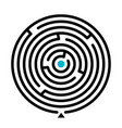 round labyrinth find path vector image vector image