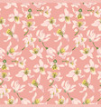 Seamless pattern with citrus tree flowers of