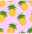 seamless pineapple geometric pattern vector image vector image