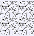 seamless polygonal space pattern with connecting vector image vector image