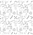 Seamless sketch of science doddle elements vector image