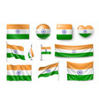 set india flags banners banners symbols flat vector image vector image