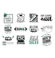 Set of back to school sale retro style vector image