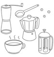 set of coffee maker vector image