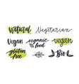 set of labels with written inscriptions for gluten vector image vector image