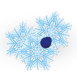 Snowflake pinned vector image vector image