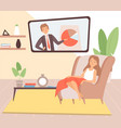 stay at home housewife resting cartoon woman in vector image vector image