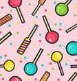 Stitch patches sweet lollipop seamless pattern vector image vector image