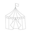 striped circus tent doodle style vector image vector image