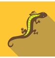 Stripped lizard icon flat style vector image vector image