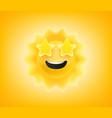 summer sun emoticon good day sunshine concept vector image