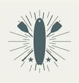 surf board vector image vector image