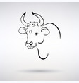 symbol year white bull vector image vector image
