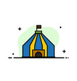 tent tent circus business flat line filled icon vector image vector image
