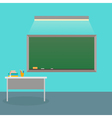 The interior is class with school Board vector image vector image