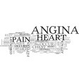 what is angina text word cloud concept vector image vector image