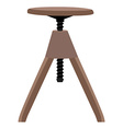 Wooden screw stool vector image vector image