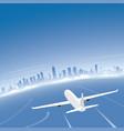 chicago skyline flight destination vector image